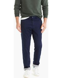 J.Crew - 770 Straight Stretch Chino Cabin Pant With Solid Flannel Lining - Lyst