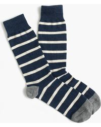 J.Crew - Naval-striped Socks - Lyst