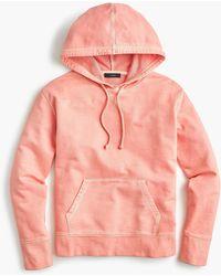 J.Crew - Garment-dyed Hoodie Sweatshirt - Lyst