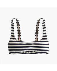J.Crew - Scoop Bikini Top In Stripe - Lyst