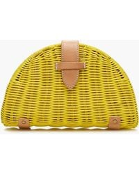 J.Crew - Fan Rattan Clutch - Lyst