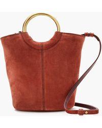 J.Crew - Bracelet Bucket Bag In Italian Suede - Lyst