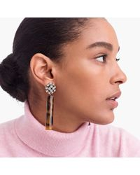 J.Crew - Crystal And Tortoise Drop Earrings - Lyst