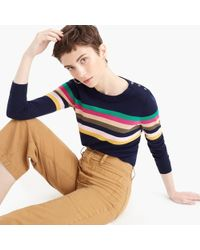 J.Crew - Tippi Sweater In Multi-stripe With Shoulder Buttons - Lyst