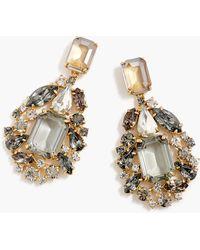 J.Crew - Cluster Drop Stone Earrings - Lyst