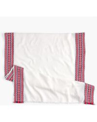 J.Crew - Embroidered Woven Scarf - Lyst