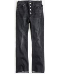 J.Crew - Demi-boot Crop Jean With Exposed Buttons In Charcoal Wash - Lyst