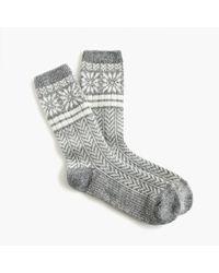 J.Crew - Trouser Socks In Snowflake Fair Isle - Lyst