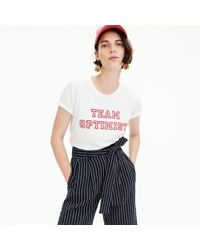 "J.Crew - ""team Optimist"" T-shirt - Lyst"