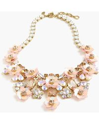 J.Crew - Flower Blossom Statement Necklace - Lyst