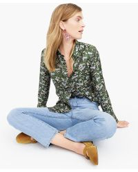db68b0071b54a0 J.Crew - Collection Silk Twill Button-up In Jungle Cat Print - Lyst