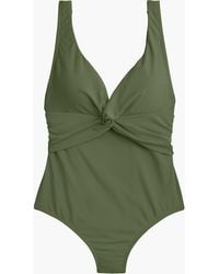 J.Crew - Twist-front One-piece Swimsuit - Lyst
