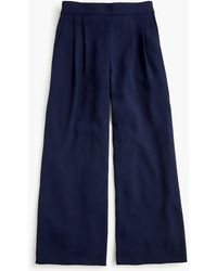 J.Crew - Tall Wide-leg Crop Pant In 365 Crepe - Lyst