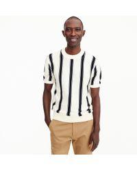 J.Crew - Pima Cotton Striped Crewneck Sweater - Lyst