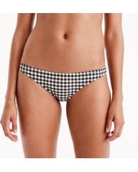 J.Crew - Lowrider Bikini Bottom In Matte Gingham - Lyst