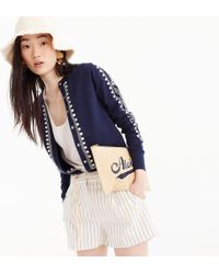 J.Crew - Embroidered Eyelet Jackie Cardigan Sweater - Lyst