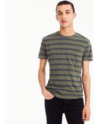 J.Crew - Garment-dyed T-shirt In Harbor Stripe - Lyst