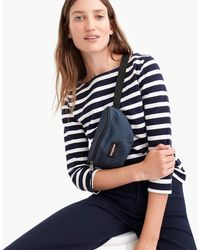 J.Crew - Structured Boatneck T-shirt In Stripe - Lyst