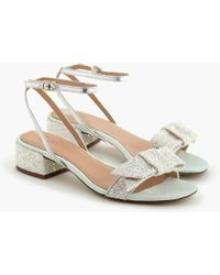 J.Crew - Strappy Block-heel Sandals (60mm) In Glitter - Lyst