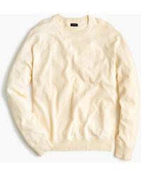J.Crew - Crewneck Cotton Field Sweater - Lyst