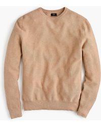 J.Crew - Cotton Crewneck Sweater In Garter Stitch - Lyst
