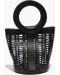 Modern Weaving - Mini Jute Circle Handle Bucket Bag - Lyst