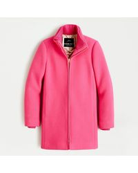 J.Crew Petite Lodge Coat In Italian Stadium-cloth Wool - Pink
