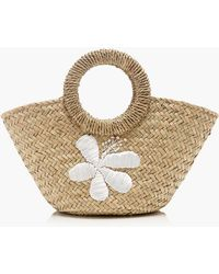 J.Crew - Small Ibiza Tote With Embroidered Flowers - Lyst