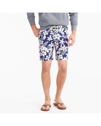 """J.Crew - 9"""" Board Short In Blue And White Floral - Lyst"""