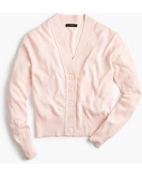 J.Crew - Cropped Lightweight Cardigan Sweater - Lyst