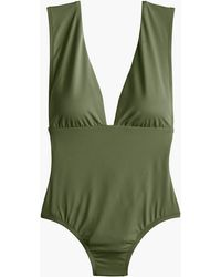 J.Crew - Plunge V-neck One-piece Swimsuit - Lyst