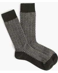Anonymous Ism - Wool Herringbone Crew Socks - Lyst