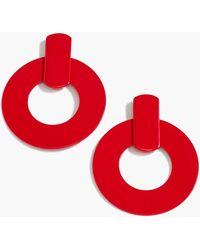 J.Crew - Flat Drop-hoop Earrings - Lyst