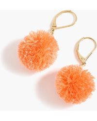 J.Crew - Pom-pom Earrings - Lyst