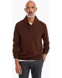 J.Crew - Rugged Merino Wool Two-button Shawl-collar Pullover - Lyst