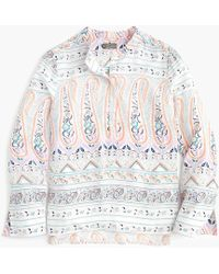 9fbae20ea1934c J.Crew Point Sur Cotton Top In Floral Paisley Block Print - Lyst