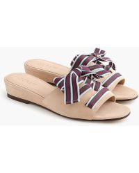 J.Crew - Mini-wedge Slides With Lace-up Ribbon - Lyst