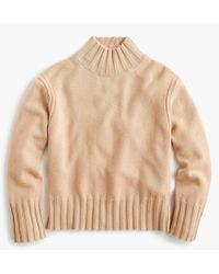 J.Crew - Relaxed Mockneck Sweater In Cashmere - Lyst