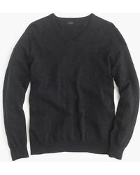 J.Crew - Rugged Cotton V-neck Sweater - Lyst