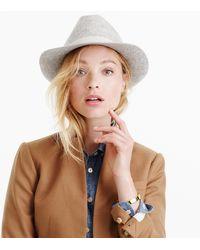 J.Crew - Short-brimmed Italian Wool-felt Hat - Lyst