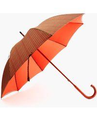 J.Crew - London Undercover Plaid Umbrella - Lyst