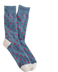 J.Crew - Medium-dot Cotton Socks - Lyst
