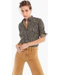 0ca96639fe9050 J.Crew - Slim Stretch Perfect Shirt In Leopard Print - Lyst