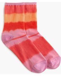 J.Crew Tie-dye Bootie Socks