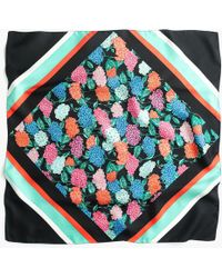 J.Crew - Square Silk Scarf In Spring Flowers - Lyst