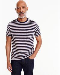 J.Crew - Stripe Slub Cotton T-shirt - Lyst