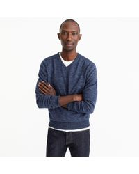 J.Crew - Rugged Cotton V-neck Jumper - Lyst