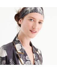 J.Crew - Silk Headband In Dizzy Dot - Lyst