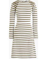 J.Crew - 365 Stripe Knit Fit & Flare Dress - Lyst