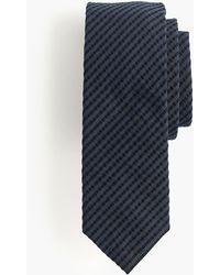 J.Crew - Seersucker Tie In Navy And Black Stripe - Lyst